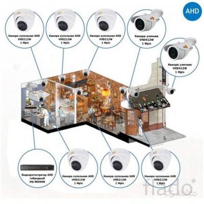 Комплект видеонаблюдения AHD для кафе на 8 камер