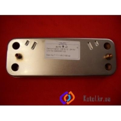 Теплообменник ARISTON MICROGENUS 30kw вторичный на ГВС (16 пластин)