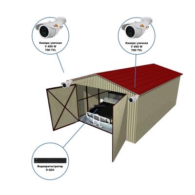 Комплект видеонаблюдения AHD для гаража на 2 камеры