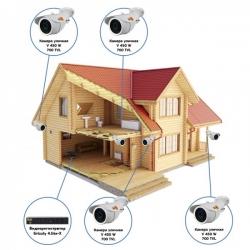 Комплект видеонаблюдения AHD для дачи на 4 камеры