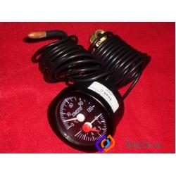 Термоманометр диаметр 52мм, диапазон 0-120 С, 0-6 Бар, капилляр -1500мм, чуств. элемент - ф6,5*25мм