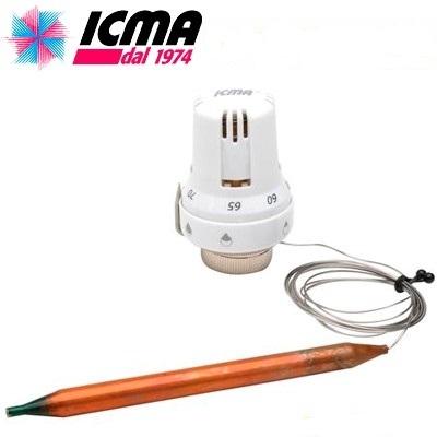 ICMA термостатическая головка с погружным датчиком (тёплый пол)