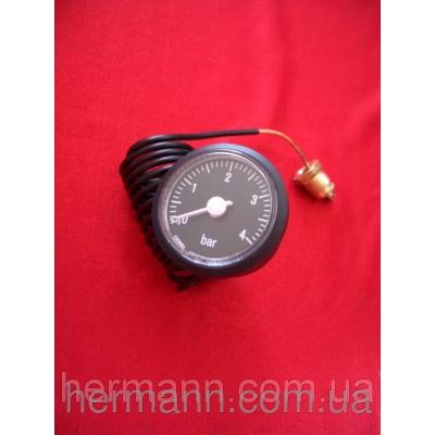 Манометр 0-4 бар, капилляр 1500 мм, крепление 1/4 G