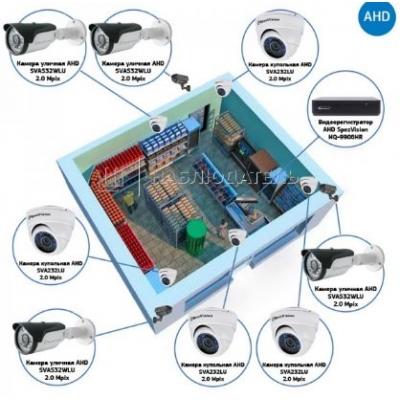 Комплект видеонаблюдения AHD для магазина на 8 камер