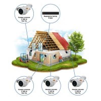 Комплект видеонаблюдения AHD для стройки на 4 камеры