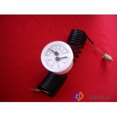 Термоманометр капилярный Ф40 крепление 1/4G