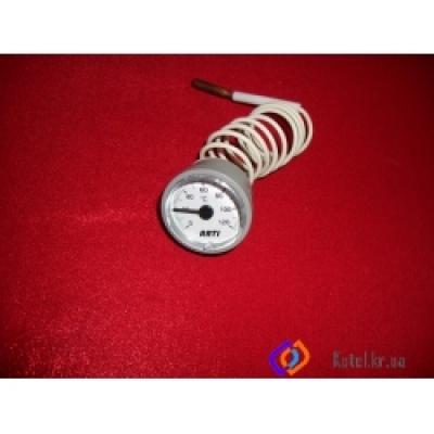 Термометр Ф 37 ММ 0-120 С, капилляр 1000 мм, чувств. элемент Ф 6,5*31 мм